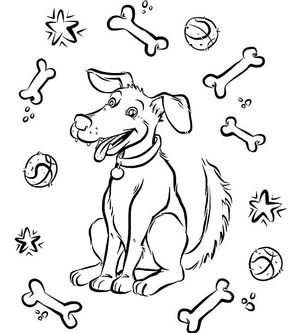dog coloring page - Coloring Pages Printable