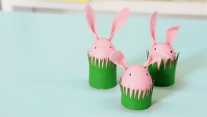 Easter crafts easy easter craft ideas for kids parents quick and easy easter craft cardboard tube bunnies negle Choice Image