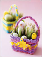 Easter crafts easy easter craft ideas for kids parents making mini easter baskets negle Choice Image