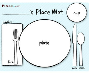 Printable Table-Setting Place Mats